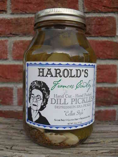 "Harold's Frances Cowley's Gourmet Dill Pickles ""Cellar Style"", 912g"